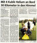Ballonmission 2005  Westfalenpost 11.10.2005