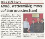 Wetterstation GymSL WR, 11.11.2008, Titelseite