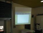 2008: Beamerpräsentation des Wetterscripts für das Forum